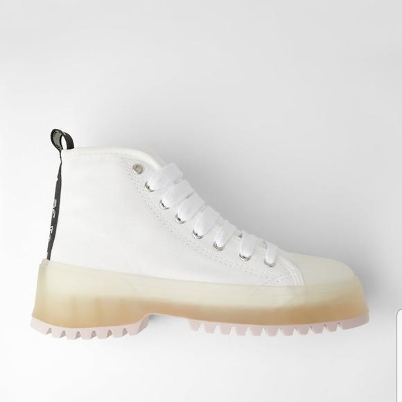 Zara Fabric High Top Sneakers